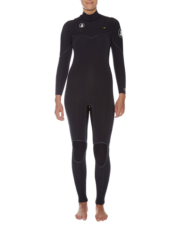 Women's Topaz 3/2mm Separated-Zip Fullsuit - Black