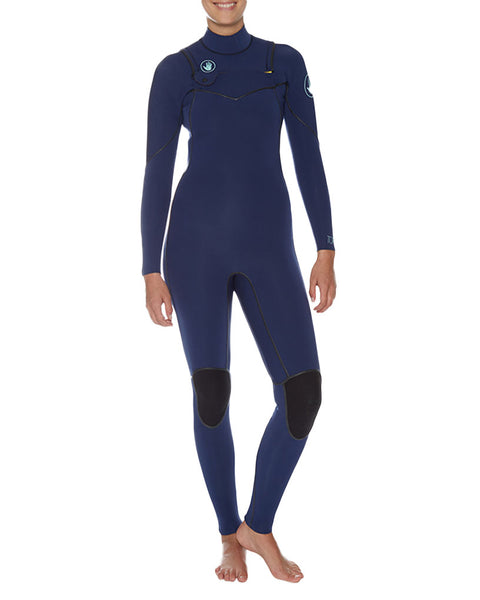 Topaz 5/4/3mm Separated Zip Fullsuit - Black