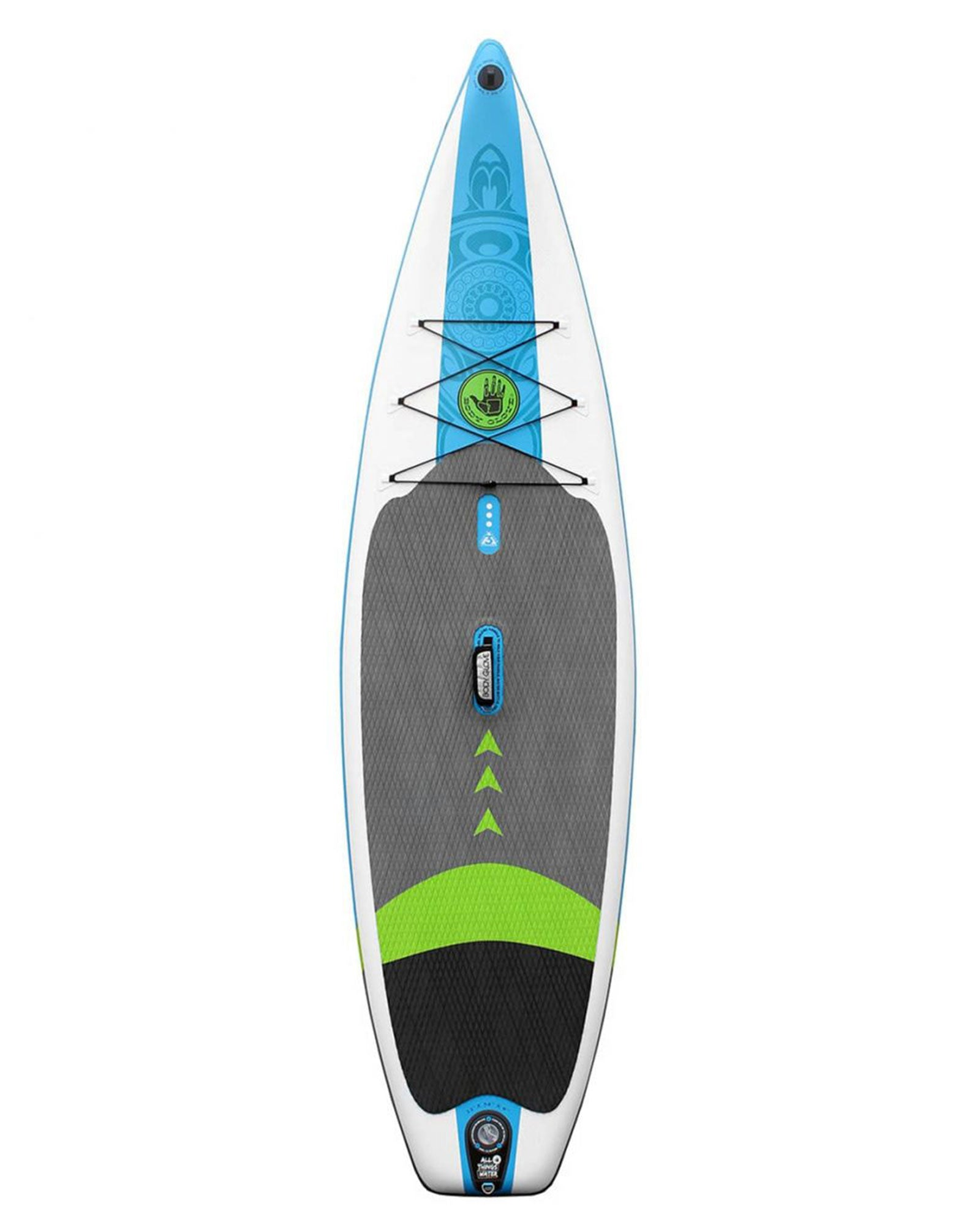 Performer 11' Blue Ocean Edition Inflatable Stand Up Paddle Board (ISUP) with Bag, Paddle & Pump