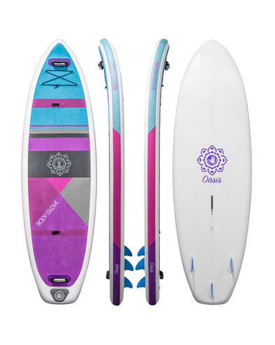 Oasis Yoga Fitness Inflatable Paddle Board Package