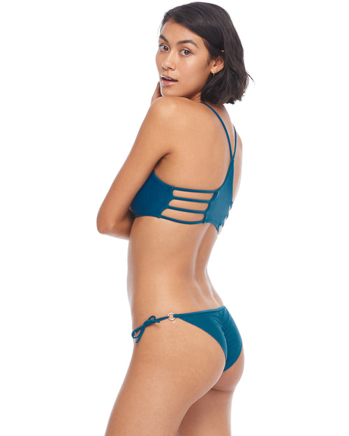 Smoothies Brasilia Side-Tie Bikini Bottom - Prussian