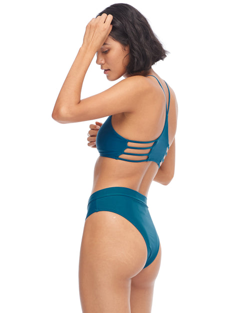 Smoothies Marlee High-Waist Bikini Bottom - Prussian