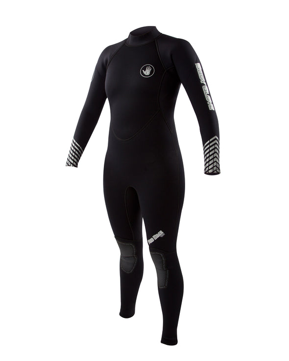 Pro 3 Dive 3mm Women's Back-Zip Springsuit - Black