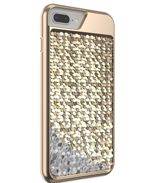 Shimmer Case for iPhone 6 Plus, iPhone 6s Plus, iPhone 7 Plus, iPhone 8 Plus - Gold/Silver