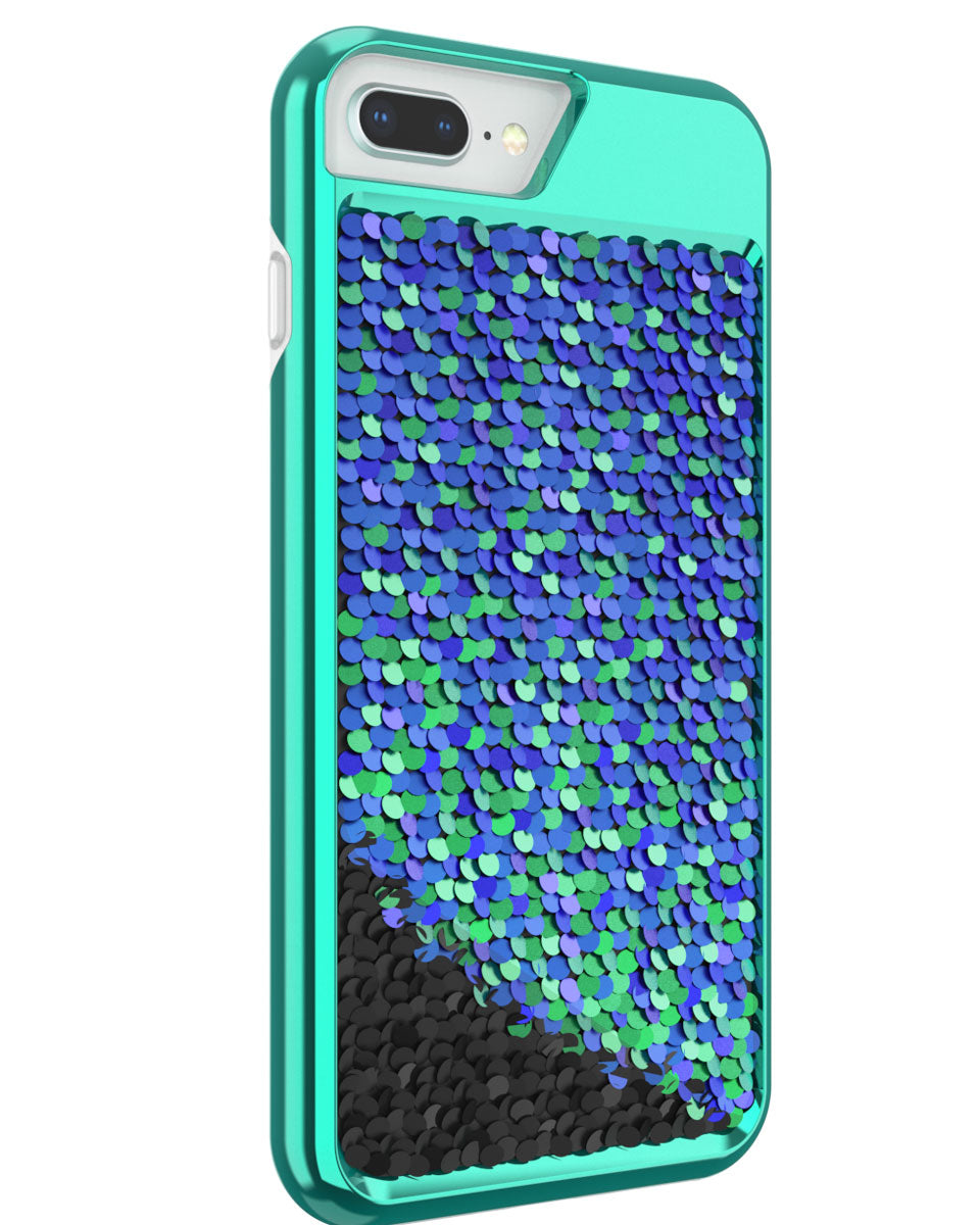cheap for discount 8812d c8236 Shimmer Case for iPhone 6 Plus, iPhone 6s Plus, iPhone 7 Plus, iPhone 8  Plus - Iridescent Teal/Black