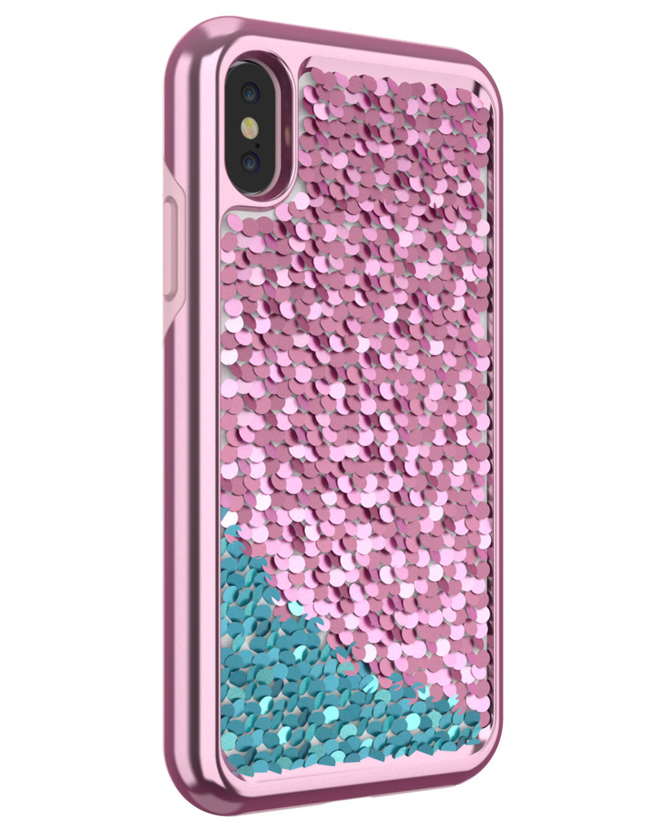 Shimmer Case for iPhone X - Pink/Teal