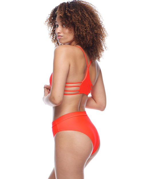 Smoothies Marlee High-Waist Bikini Bottom - Spark