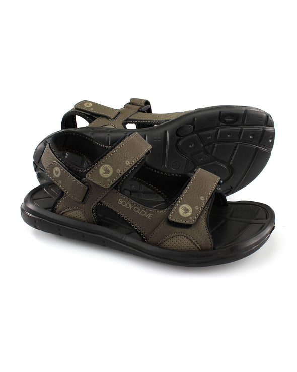 Men's Adjustable Trek Sandal in Brown/Brindle