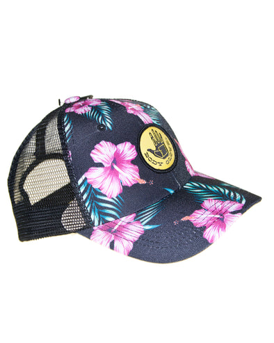 Printed Floral Trucker Hat - Multi