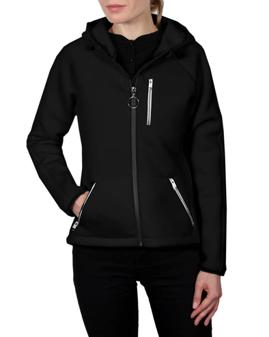 Women's Scuba-Stretch Jacket - Black