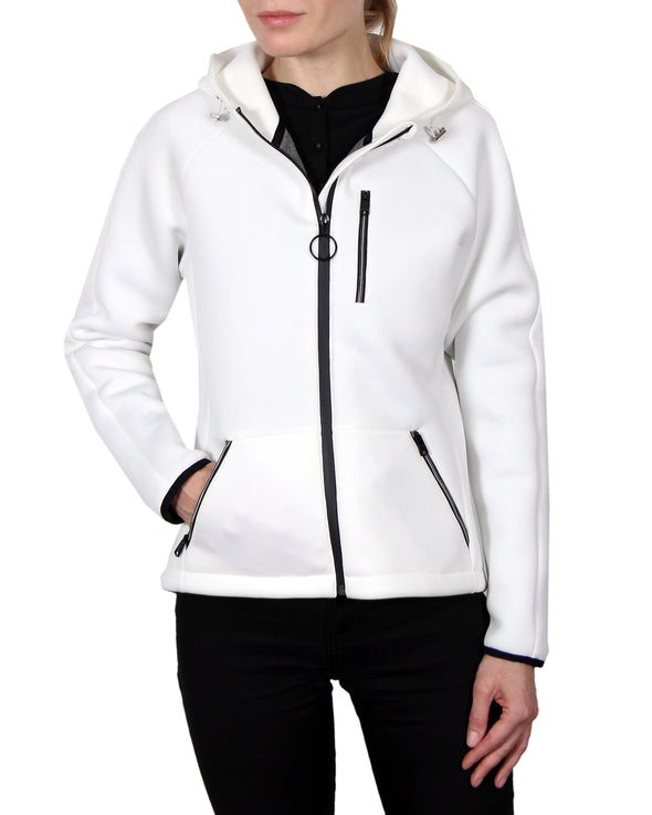Women's Scuba-Stretch Jacket - White