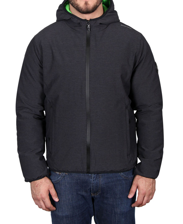 Men's Hooded Primaloft Jacket - Grey