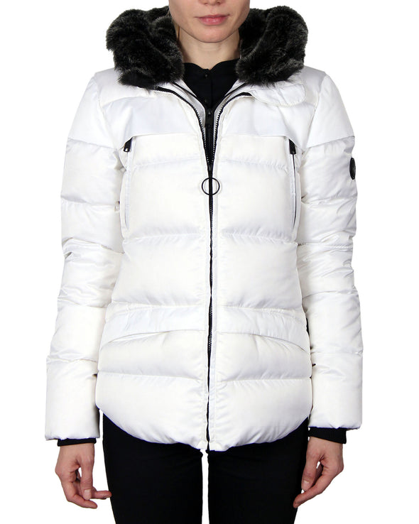 Women's Down Parka Coat - White