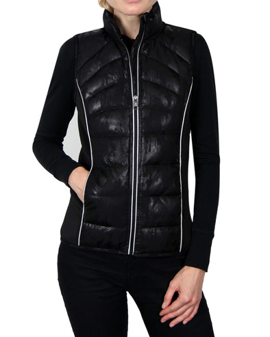 Women's Down Vest - Black/Black