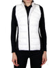 Women's Down Vest - White/Black