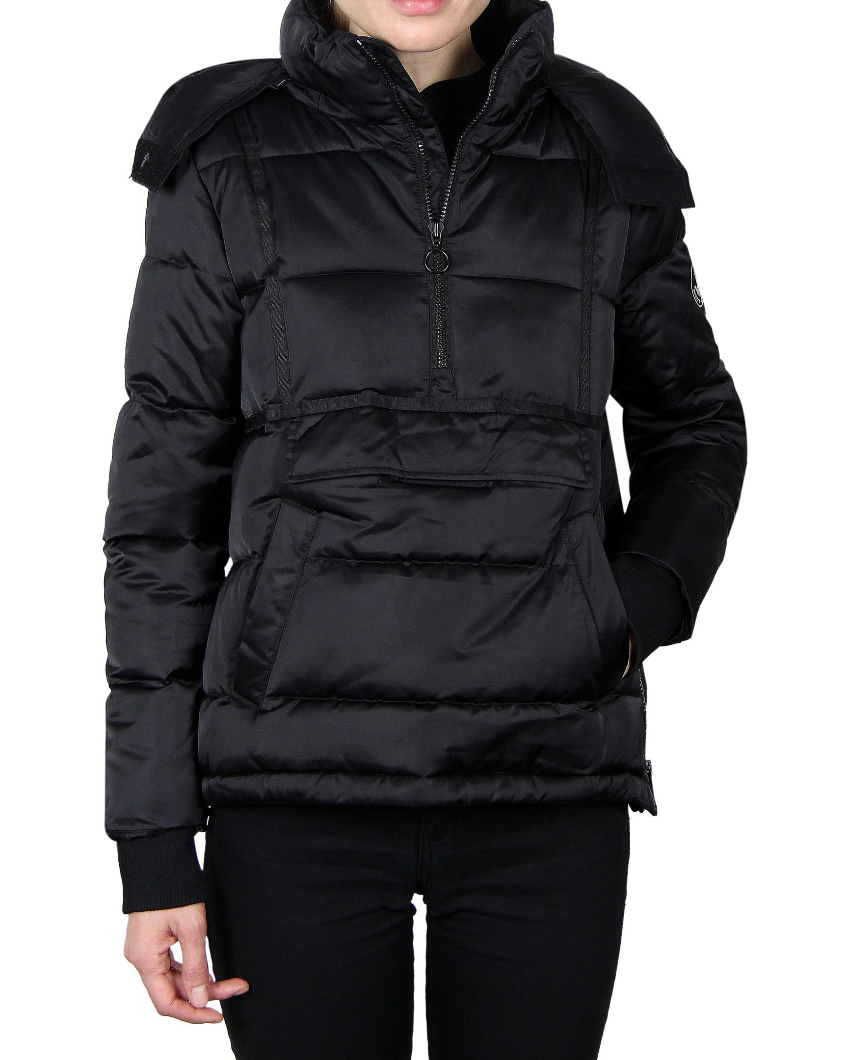 Women's Quilted Pullover - Black