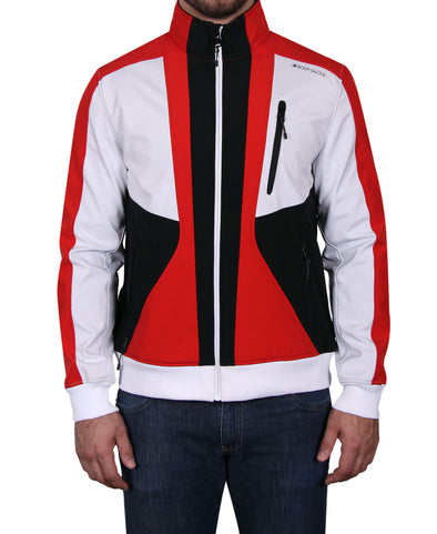 Men's Tri-Color Soft Shell Jacket - Red