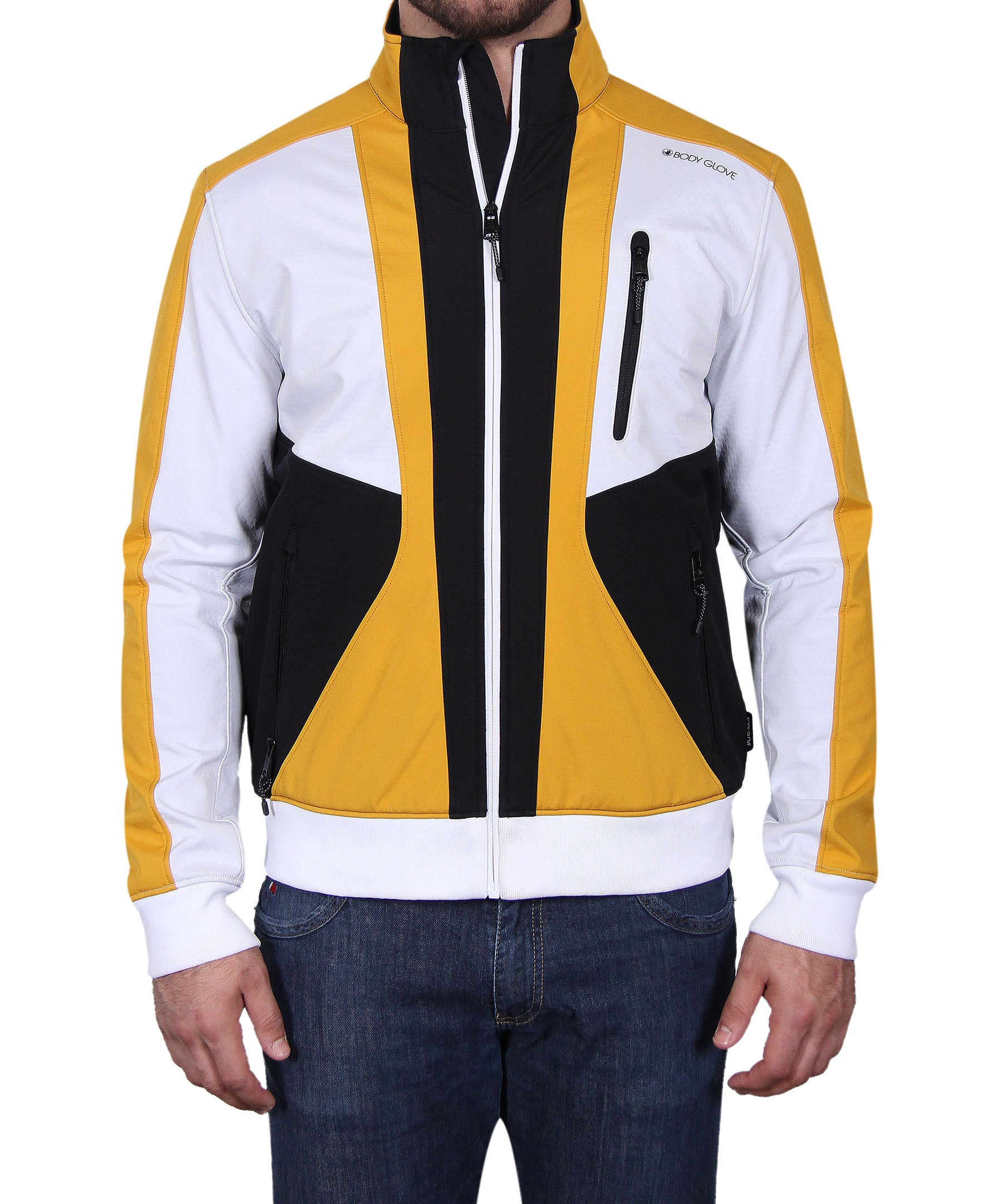 Men's Tri-Color Soft Shell Jacket - Yellow