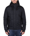 Men's Hooded Quilted Parka - Black