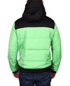Men's Hooded Quilted Parka - Green