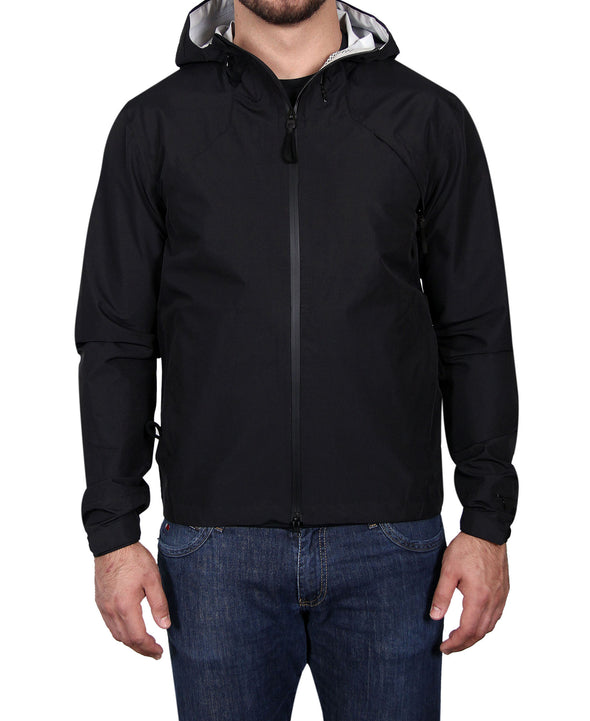 Men's Waterproof & Windproof Zippered Jacket - Black