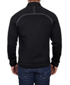 Men's Neoprene Scuba Stretch Jacket - Black