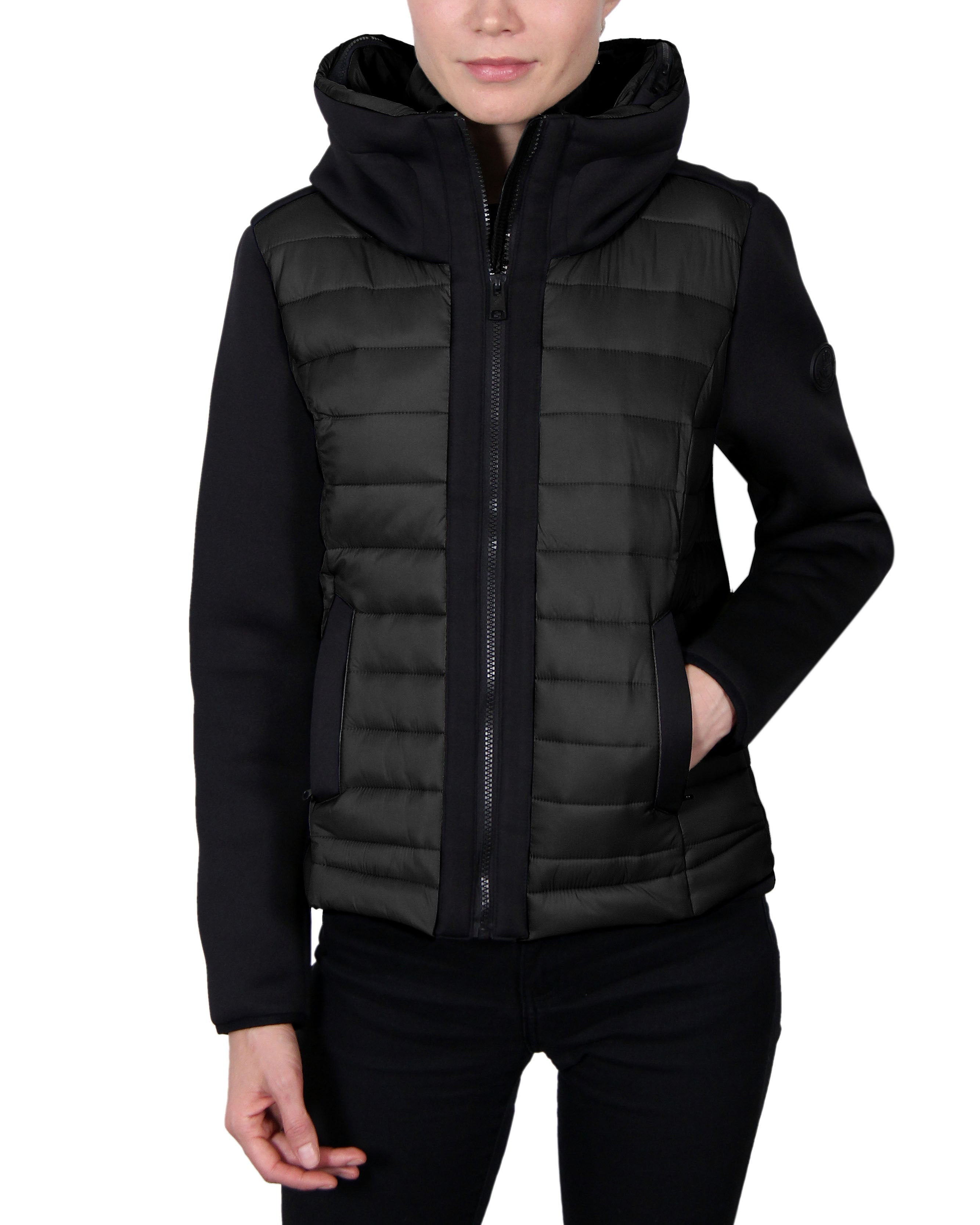 Women's Scuba-Stretch Hybrid Jacket - Black