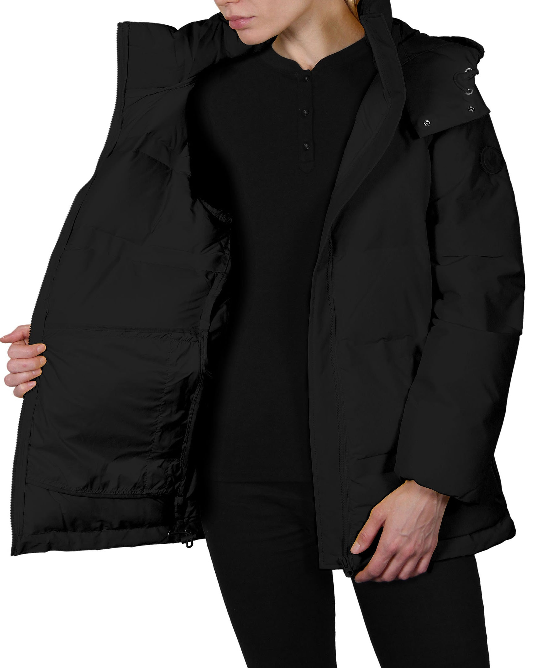 69251a0cf Women's Quilted Down Parka Coat - Black – Body Glove