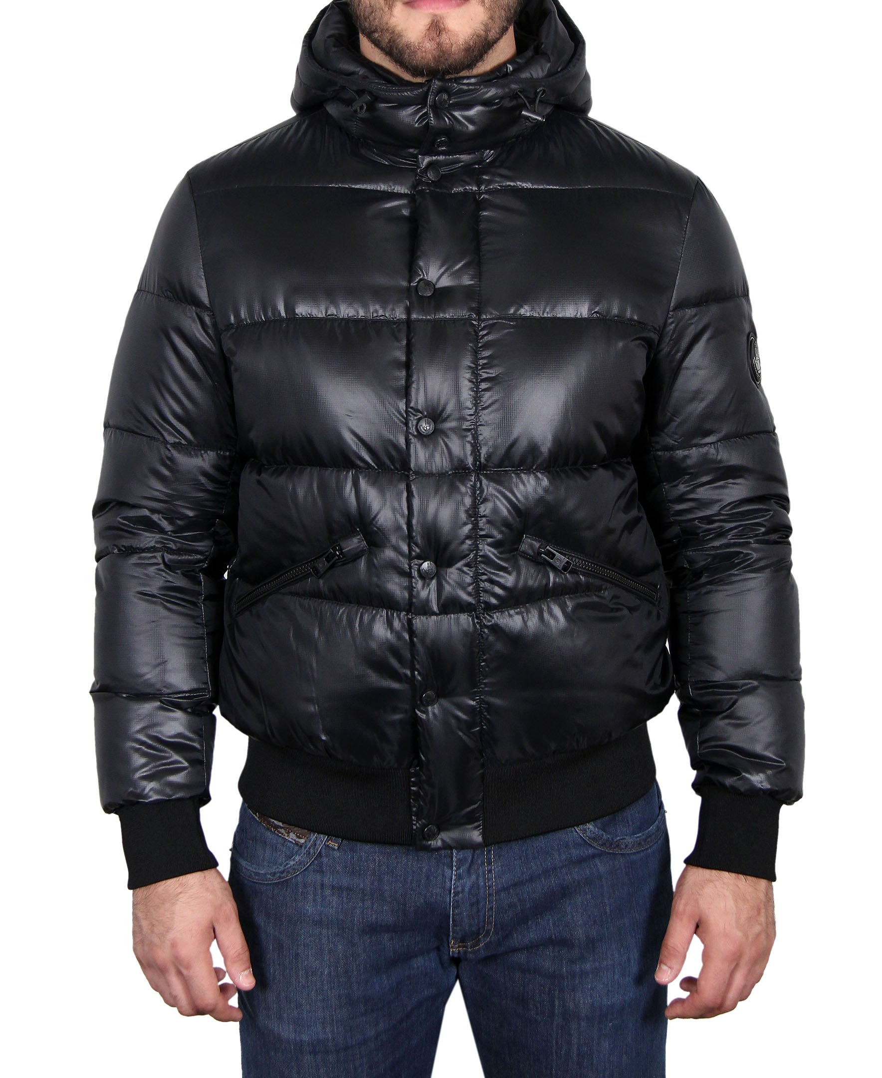 Men's Hooded Down Parka - Black