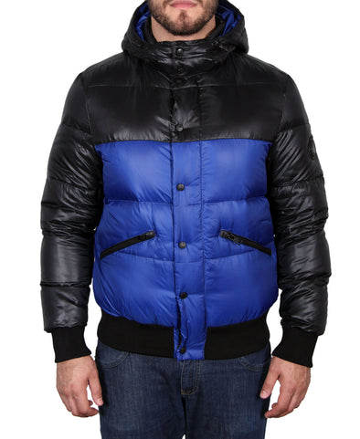 Men's Hooded Down Parka - Blue