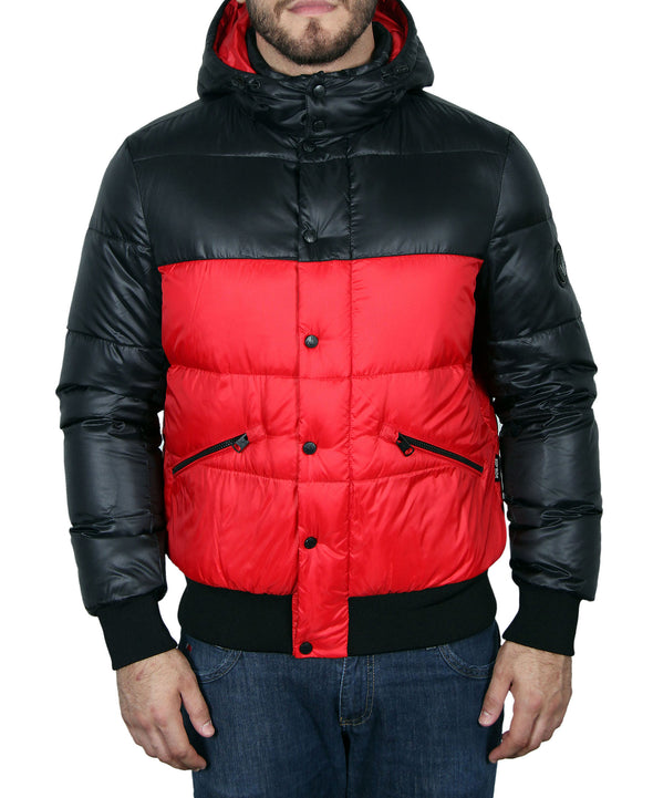 Men's Hooded Down Parka - Red