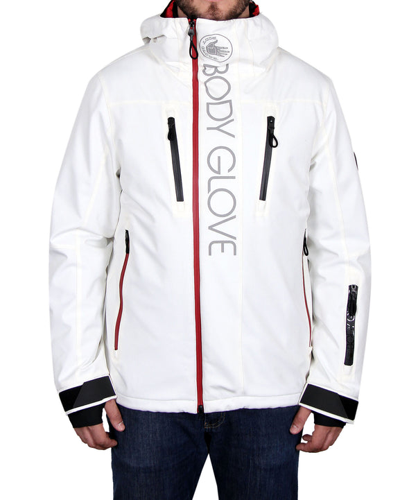 Men's All-Season Snowboard Ski Jacket - White/Red