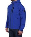 Men's Hooded Soft Shell Jacket - Blue