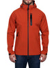 Men's Hooded Soft Shell Jacket - Orange