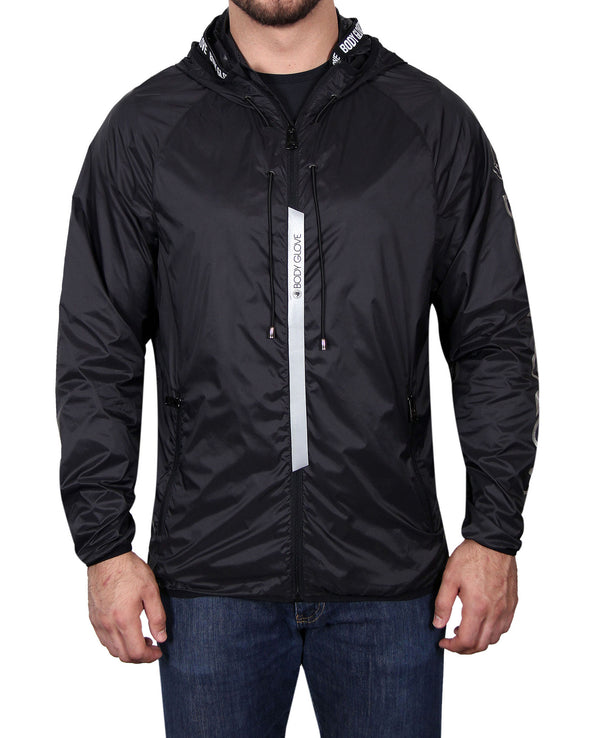 Men's Lightweight Packable Jacket - Black