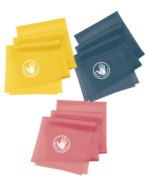 Flat Resistance Bands 3-Pack - Sweetcorn/Glow/Oceanic