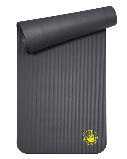 Extra Thick Fitness Mat with Carry Strap - Black