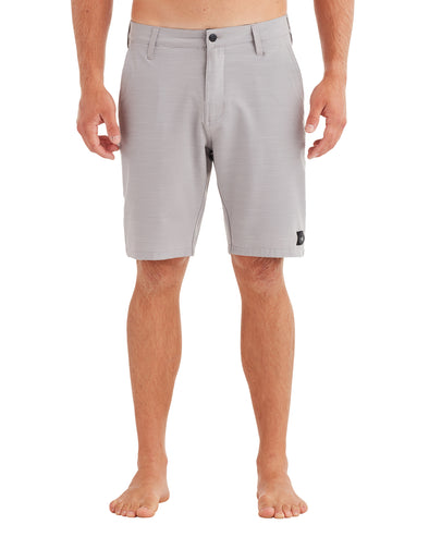 Men's Solid Slub Hybrid Swim Short - Silver