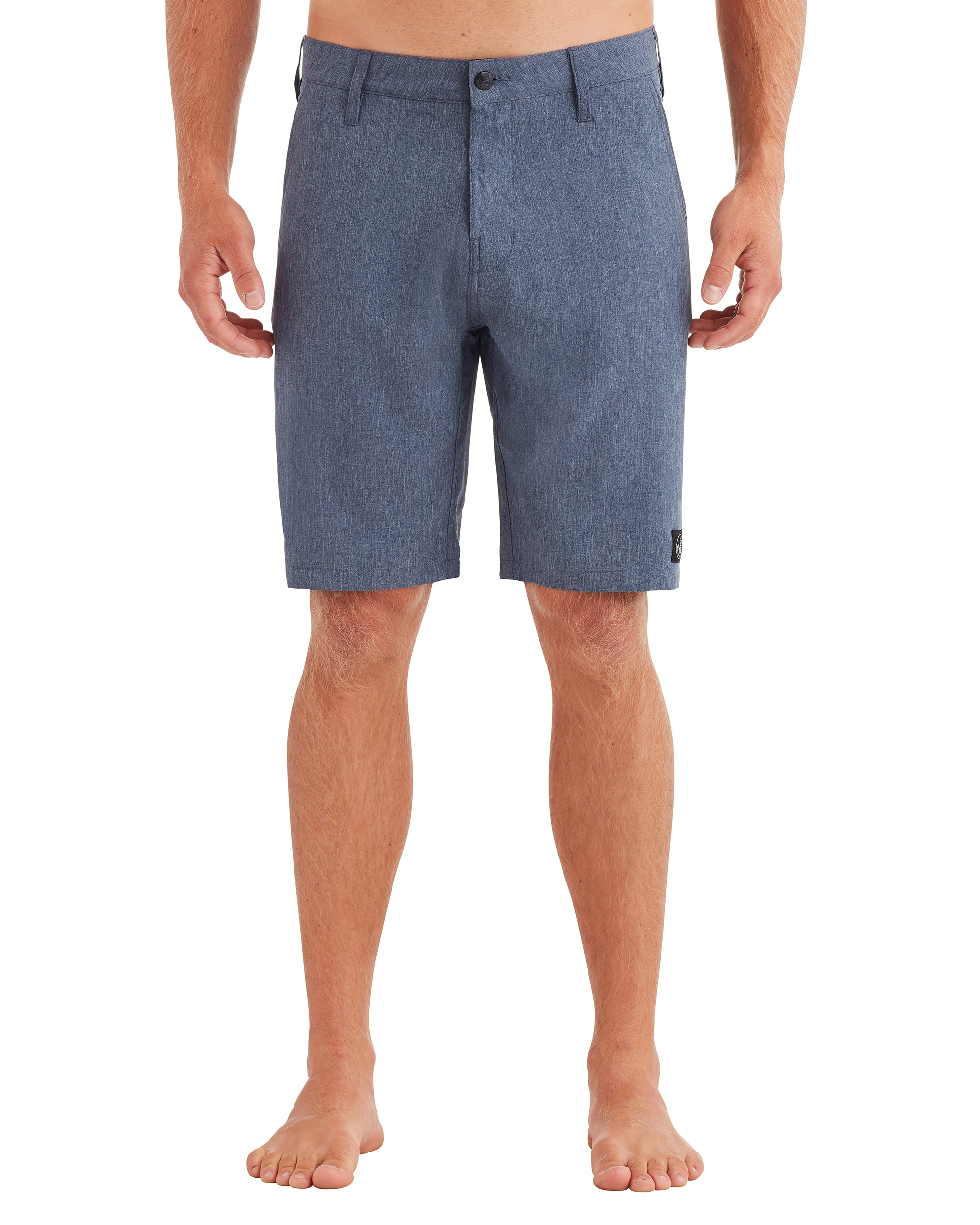 Men's Stretch Chambray Hybrid Swim Short - Marine