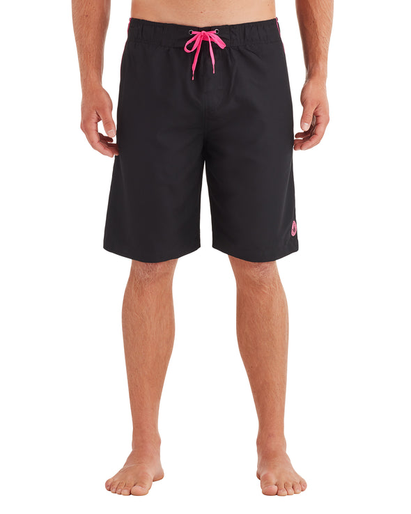 Men's Pipeline Swim Short - Black/Pink
