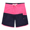 Men's Scallop Swim Short - Neon Pink/Navy