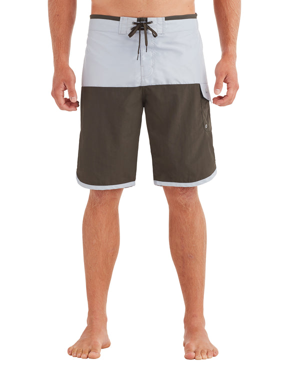 Men's Scallop Swim Short - Grey/Olive