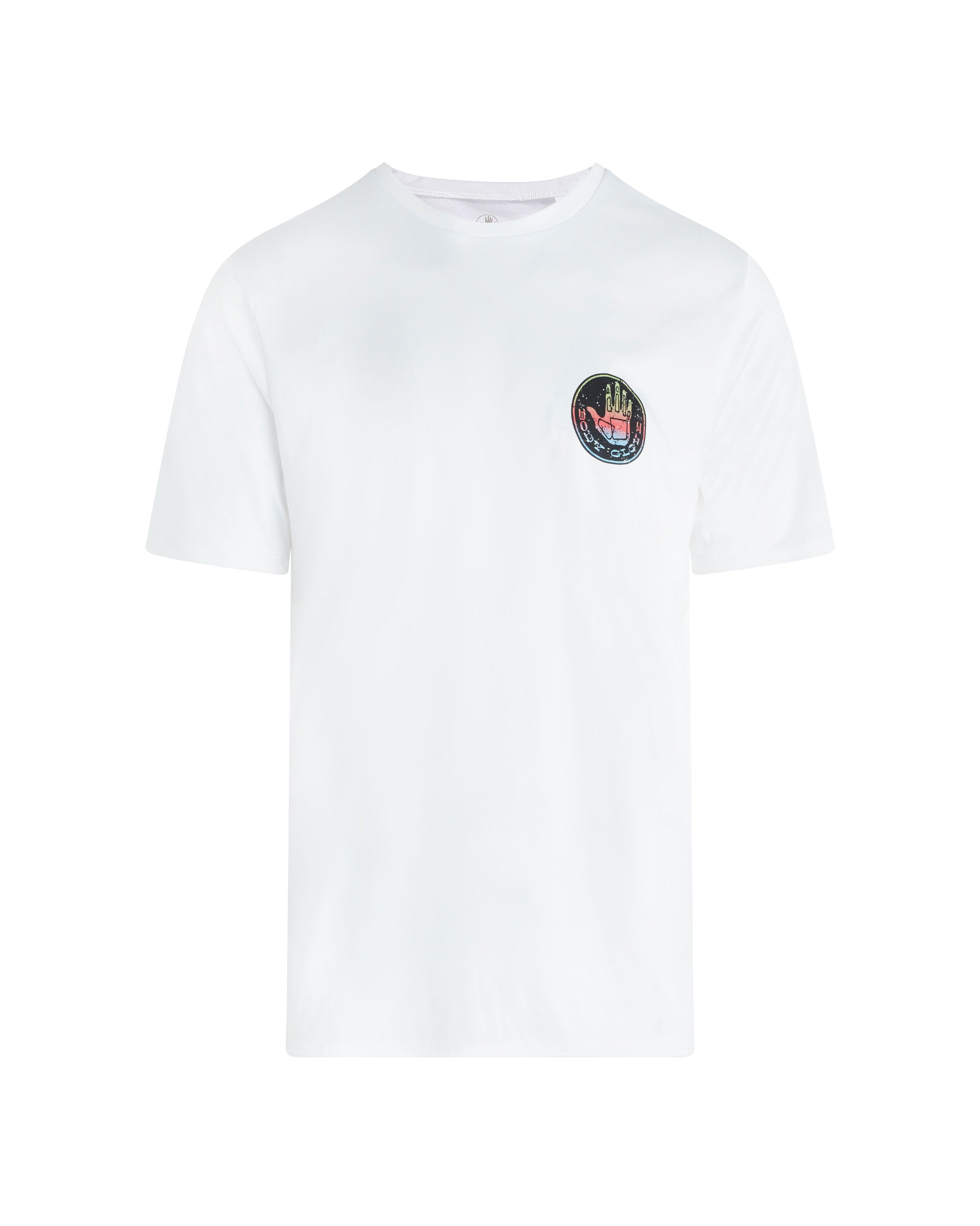Men's Short-Sleeve Graphic Swim Tee - White