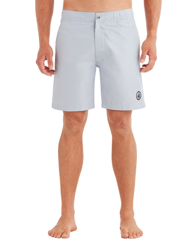 Men's Elastic Button-Front Swim Short - Grey