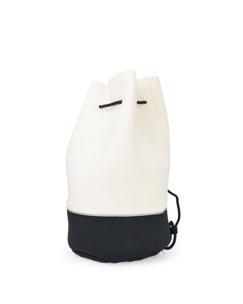 Offshore Drawstring Bucket Tote - Black/White