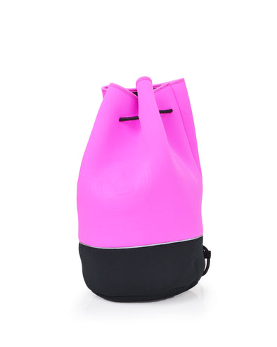 Offshore Drawstring Bucket Tote - Pink/Black