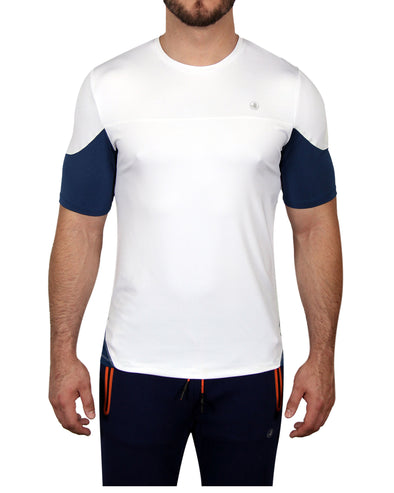 Men's Short-Sleeved Performance Tee - White
