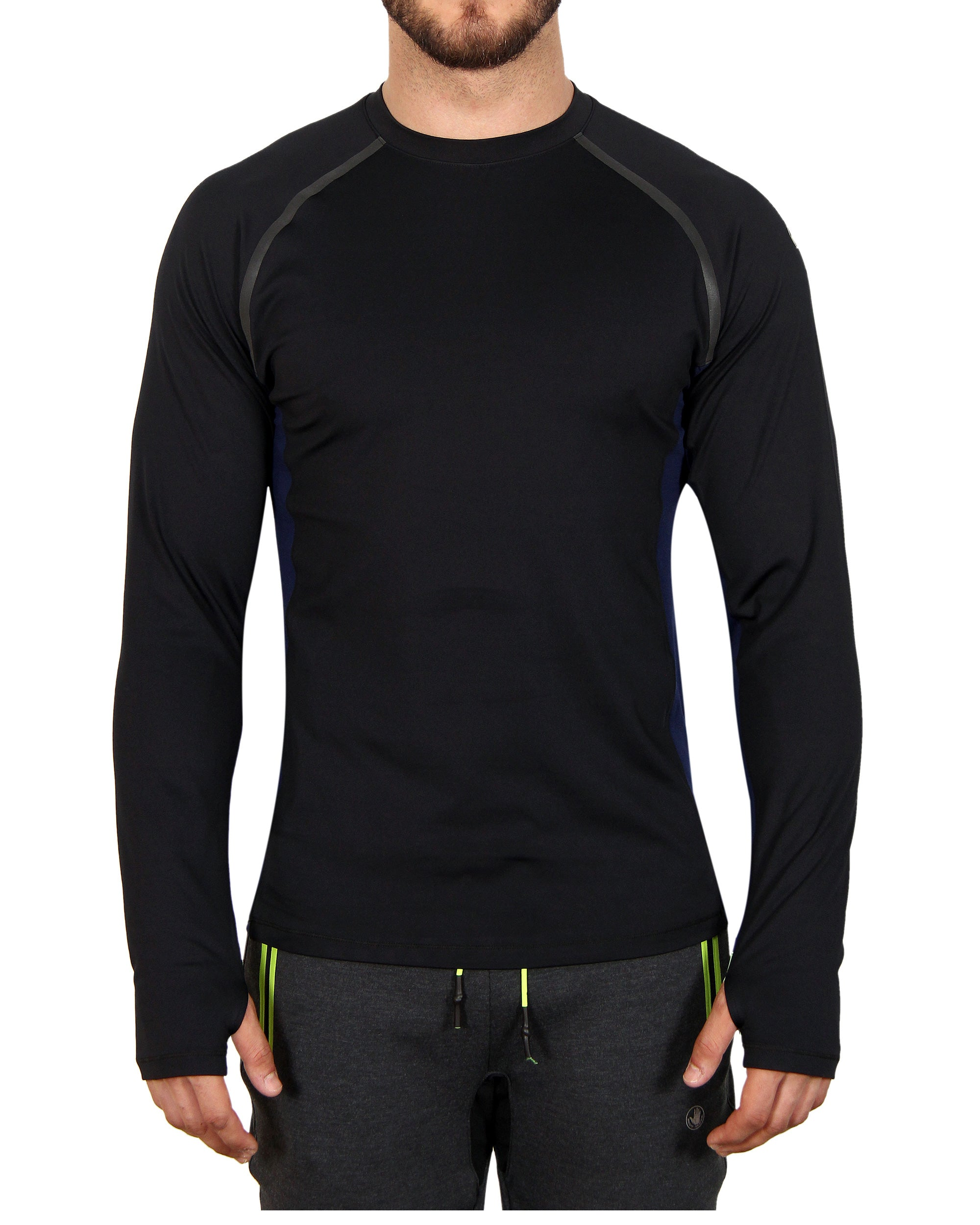 Men's Long-Sleeved Performance Tee - Black
