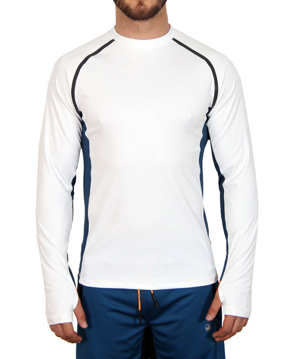 Men's Long-Sleeved Performance Tee - White