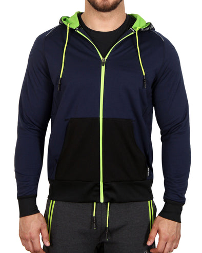 Men's Full-Zip Performance Hoodie - Blue